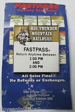 Disney WDI Fast Pass Big Thunder Mountain Railroad Pin