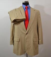 Vintage Brooks Brothers 44L 36x28 2PC Full Suit Beige