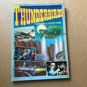 THUNDERBIRDS Colouring  Activity Book - Date 1992 -  UK Paper Comic