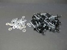 Vintage FITS YAMAHA Snowmobile Black RIVETS 50 LARGE HEAD 3/16 & 50 Washers Kit