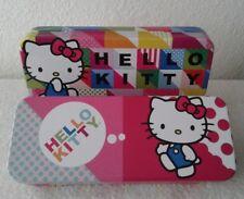2 Hello Kitty Tin Metal Case Pencil Pen Boxes Stationery Sanrio 2015