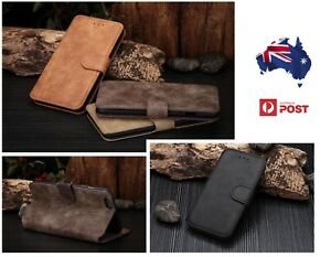 Leather Mobile Phone Case iPhone 6 6S 5 5S Samsung S4 S5 Note 2 3 Wallet Cover