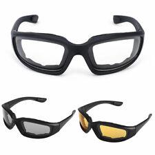 Motorcycle Transition Lens Biker Riding Sun Glasses Day Night Foam Padded Glass