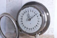 Vintage Ship Cabin Maritime Clock USSR VOSTOK 24-hours BOAT Submarine Navy Clock