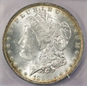 1885-O 1885 Morgan Silver Dollar ICG MS64+ Beautiful color and nice luster!
