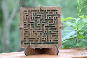 """*NEW* Zen Maze """"Growth"""" Wooden Maze Ball Puzzle Relaxing Gift!"""