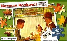 """Jigsaw Puzzle 500pc Norman Rockwell The Jewelry Shop (1954) 18¼""""X11"""" NEW #TY34"""
