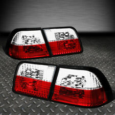 FOR 95-96 NISSAN MAXIMA RED/CLEAR LENS INNER+OUTER TAIL LIGHT BRAKE/REVERSE LAMP