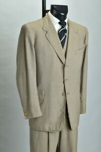 Gentleman's 1950s' Sandon Savile Row Tailored 3 Piece Suit with Felt Braces. AVF