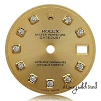 Rolex Champagne Diamond Dial for Ladies Datejust Two-Tone 26mm Watch