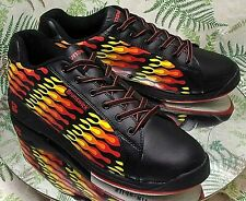 BRUNSWICK TORCH BLACK RED YELLOW FLAMES BOWLING SNEAKERS SHOES US MENS SZ 10.5 M