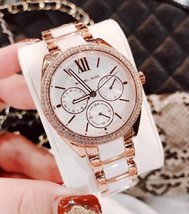 Michael Kors Janelle Rose Gold Dual Tone Women's Watch MK7131