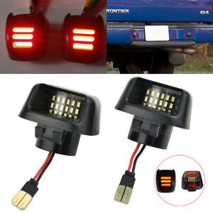 Bumper License Plate Lamp Light For Nissan Armada 08-16 Titan 07-15 Xterra 07-15