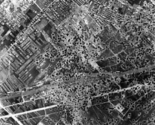 Bomb Craters form US B-29 Superfortress Bombing 8x10 World War II WW2 Photo 647