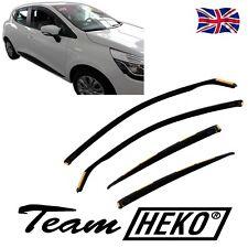 DRE27184 RENAULT CLIO mk4 5 DOOR hatch. 2012-up WIND DEFLECTORS 4pc HEKO TINTED
