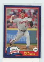 MAX SCHERZER 2018 Topps Archives 1981 Design Purple #D /175 Washington Nationals