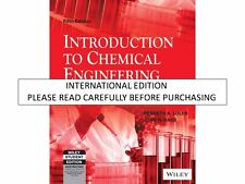 Introduction to Chemical Engineering: Tools for Today and Tomorrow, 5ed by Solen