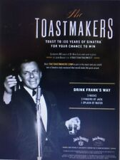 Frank Sinatra Toastmakers Poster. Jack Daniels New 18 By 26