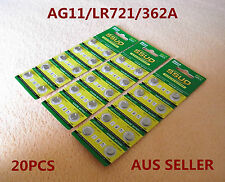 20pcs AG11/LR721/362 Button Cell Coin JAPAN STD Alkaline Battery 1.55V  Watches