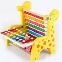 NEW BABY WOODEN ACTIVITY ABACUS TOY PLAY CENTRE CHILDREN LEARING BEAD XYLOPHONE