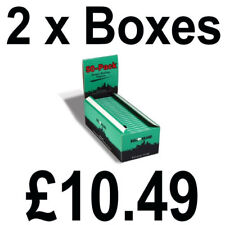 2 Full Boxes of 50 Bull Brand Green Corner Cut Rolling Cigarette Smoking Papers