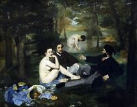 Luncheon on the Grass by French  Edouard Manet. Life Art . 11x14 Print