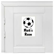 Custom Bedroom door football sign with name or other text 1954