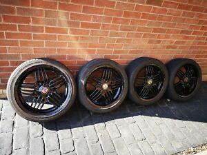 "Genuine 18"" Ronal BMW Alloys Tyres Alpina Centre Caps 4x100"