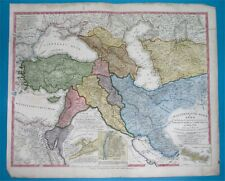 1844 ORIGINAL MAP MIDDLE EAST ARMENIA RUSSIA PALESTINE TURKEY CYPRUS JORDAN IRAQ
