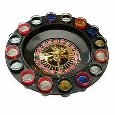 ROULETTE SET ADULT DRINKING GAME SPIN N SHOT CASINO WHEEL PARTY FUN SHOT GLASSES
