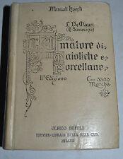 MANUALI HOEPLI - figur. 1914 - L'AMATORE DI MAIOLICHE E PORCELLANE - de mauri