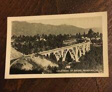 Colorado St. Bridge Pasadena Cali Mini Postcard B&W BARDELL FOTOTONE MINIATURES