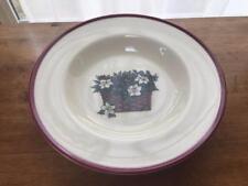 Henn Pottery Botanical Baskets Rimmed Soup Bowls EIGHT USA
