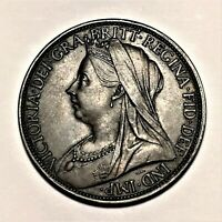1900 Great Britain Penny, Queen Victoria, KM# 790, AU  #2660