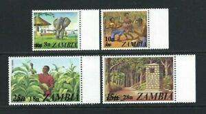 Zambia 1979, Surcharges sg279/82 MNH