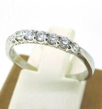 .25 ct tw Diamonds Round Brilliant Cut 18k White Gold Wedding Band Ring Size 6.5