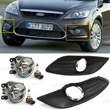 1Set Front Fog lights Lamp & Cover Grille New for 2009 2010 2011 Ford Focus