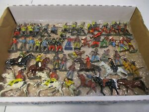 Vintage Britains Cowboys Indians and Horses Lot