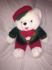 "2001 WalMART CHRISTMAS Snowflake TEDDY BEAR White Boy 22"" New With Tags"