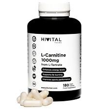 L-Carnitina pura 1000 mg | 180 cápsulas veganas (Tratamiento para 3 meses)