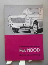 Limousine und Kombi Fiat 1100D Betriebsanleitung