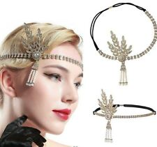 1920s Flapper Great Gatsby Headband Pearls Charleston Party Bridal Headpiece