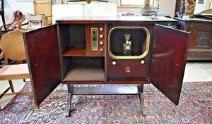 Vintage Mid Century Repurposed Console TV, Bar Liquor Cabinet