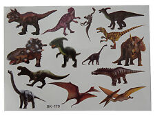 Temporary Tattoo DINOSAURS Great for Party Bags Sheet size 11x15cm