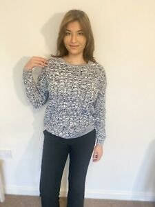 Women's Denim Knitted Cable Jumper FREE DELIVERY