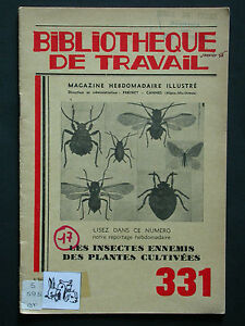 BT 331 Insectes ennemis des plantes cultivées - Entomologie Sciences naturelles