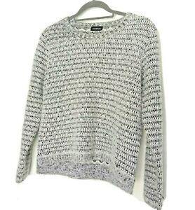 Taifun Gerry Weber Jumper Sweater Black Grey UK12 Fluffy Wool Polyester Blend