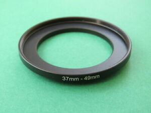 37mm-49mm Stepping Step Up Male-Female Filter Ring Adapter 37mm-49mm