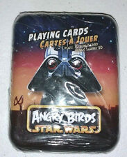 New/Seal Angry Birds Star Wars Playing Cards in Collectible Tin Darth Vader Pig