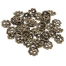 Free Shipping 100pcs Antique Bronze Tone Flower Bead Caps Finding 8mm